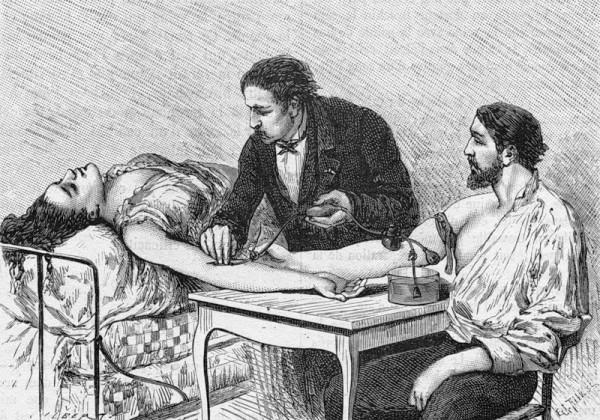Что собой представляет переливание крови в истории
