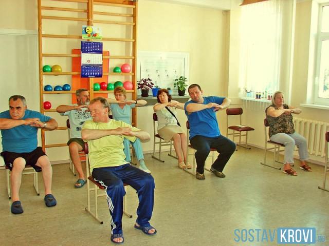 Упражнения в кардиологическом отделении